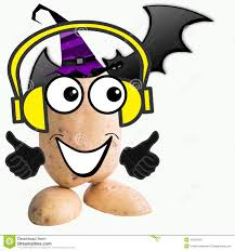 kids halloween party clipart little potato man halloween party stock illustration image 45379225