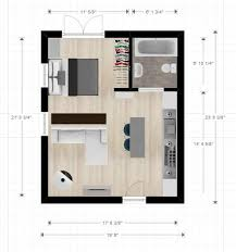Studio Layout | 20ftx24ft cabin or studio apartment layout compact living spaces