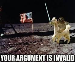 Meme Your Argument Is Invalid - sloth meme your argument is invalid moon sloth just slothing around