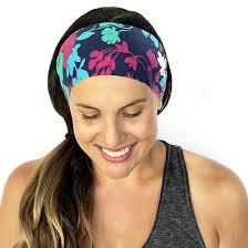 workout headbands golden pineapple print headband