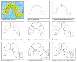 draw a caterpillar art projects for kids