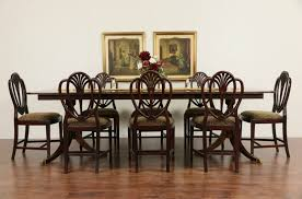 Double Pedestal Dining Room Table Sold Banded Mahogany Vintage Double Pedestal Dining Table