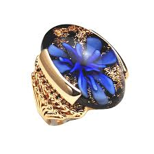 new stone rings images Free shipping 6 9 new 18k gold plated pink yellow enamel flower jpg