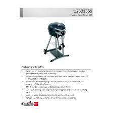 Char Broil Tru Infrared Electric Patio Bistro by Char Broil Patio Bistro 240 Electric Grill Reviews Modern Patio