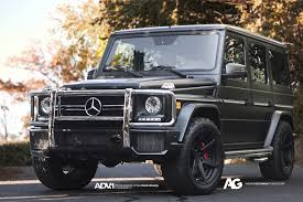 mercedes g class all black g 63 amg returns to its roots with adv1 wheels autoevolution
