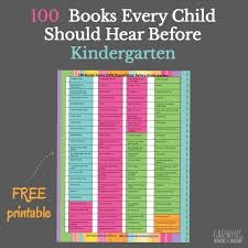 101 books to read to before kindergarten