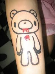 bleeding teddy bear outline tattoo image tattoos book