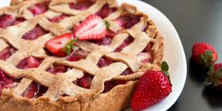 American Flag Pie Recipe Lattice Topped Strawberry Rhubarb Pie Recipe Epicurious Com