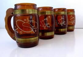 home design mason jar rustic drinking mug with handle clear