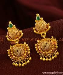 danglers earrings design er422 net design danglers semi precious emerald ear ring