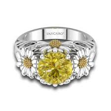 mothers day ring dazzling engagement ring with yellow gemstone for s