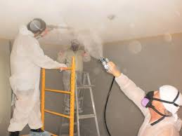 Asbestos Popcorn Ceiling by Utilization Of Airless Sprayer To Wet Asbestos Popcorn Ceiling