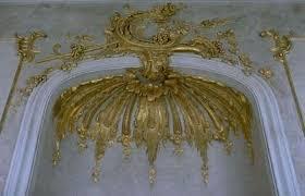 gilded boiserie baroque gilded plaster ornamentation in
