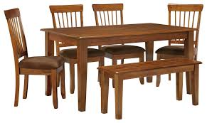 Marlo Furniture Liquidation Center by Ashley Furniture Berringer 36 X 60 Table With 4 Chairs U0026 Bench