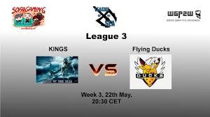world of warships league of the sea kings vs flying ducks