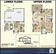 designs split level burnett282 floorplan ews house and land