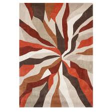 Orange Modern Rug Orange Wave Modern Rug Infinite Kukoon