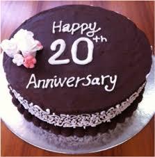 20th wedding anniversary 20th wedding anniversary cake sugar cup baker