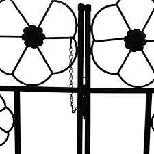 garden metal arch with door gate iron arch for climbing plants