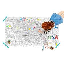 Map Of Usa For Kids by Usa Jumbo Coloring Poster Kids Usa Coloring Poster Uncommongoods