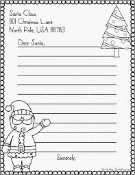 free printable writing paper to santa letter to santa template writing freebie teacher karma