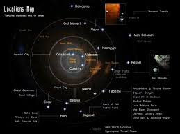Map Of The Stars Map Of The Star Wars Galaxy Star Wars Galaxy Planets And Moons
