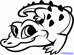 how to draw a baby alligator alligator baby step by step