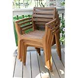 Patio Chairs Stackable Amazon Com Stackable Chairs Patio Seating Patio Lawn U0026 Garden