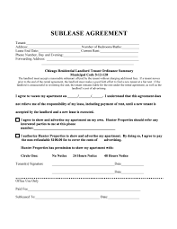 Notice To Vacate Apartment Letter 40 Professional Sublease Agreement Templates U0026 Forms Template Lab