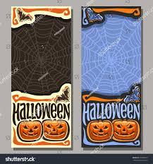 vector banners halloween holiday 2 templates stock vector