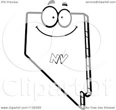 nevada state flag coloring page cartoon clipart of an outlined happy nevada state character