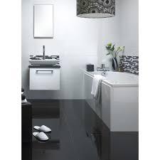 black polished porcelain floor tile 300x600