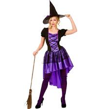 Witch Halloween Costumes Ladies Halloween Gothic Scary Sorceress Enchant Witch Fancy