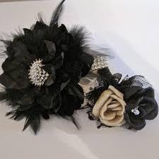 Wrist Corsage Bracelet Rhinestone Feather Wrist Corsage Bracelet From The Raggedy Rose