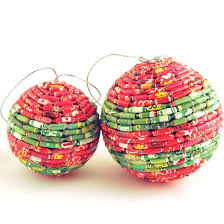 recycled ornaments three steps