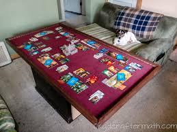 diy board game table diy gaming tabletop
