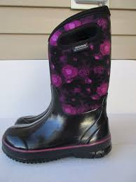 bogs boots 6 youth black insulated boys waterproof