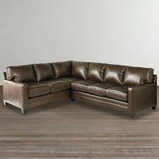 Custom Leather Sofas Cocoa Custom Leather L Shaped Sectional