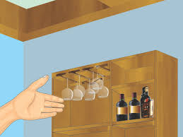 hanging pictures ideas how to make a hanging wine glass rack 14 steps with pictures