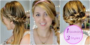three easy heatless braided hairstyles with headbands tutorial