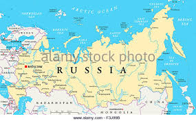 russia map with all cities russia map stock photos russia map stock images alamy