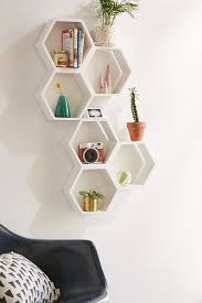 Wooden Wall Shelf Designs by Best 25 Honeycomb Shelves Ideas On Pinterest Hexagon Shelves