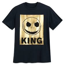 jack skellington metallic t shirt for men shopdisney
