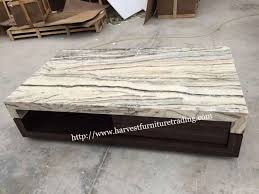 Marble Living Room Tables Harvest Furniture Modern Black Marble Top Wooden Base Living