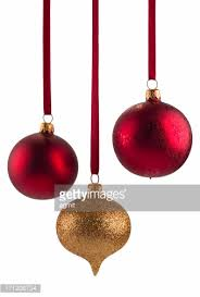 Christmas Decorations On White Background by Gold And Silver Christmas Decoration Baubles On White Background