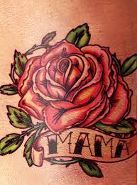 rose with banner tattoo designs pictures to pin on pinterest