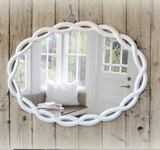 White Bathroom Mirror by Shabby Chic Bathroom Mirrors Home