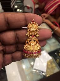 temple design gold earrings gold jhumkas new design boutiquedesignerjewellery