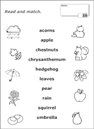 autumn vocabulary for kids learning english printable resources