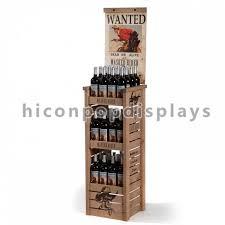 wood wine display stand merchandising displays fixtures